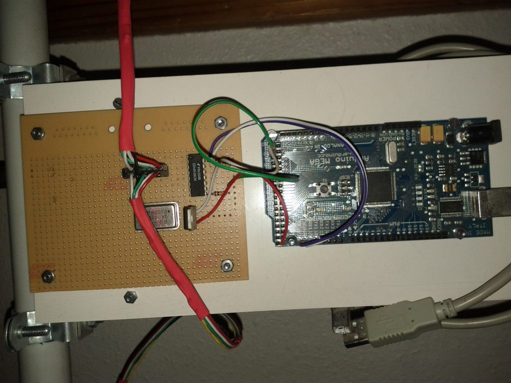Arduino Mega with wiring to the cameras