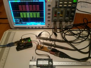 testing the voltage levels on the input signals